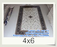 hand knotted silk carpets in size 4 x 6