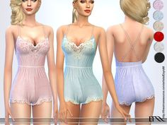 Lana CC Finds - Babydoll Lace Lingerie by EsyraM