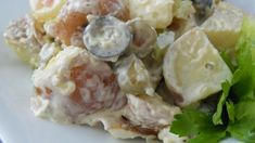 This potato salad is packed with green and black olives, sweet and dill pickle relish, and a hearty portion of hard-boiled eggs all stirred together with mayonnaise-coated red potatoes. Old Fashioned Potato Salad, Dill Pickle Relish, Creamy Potato Salad, Irish Potatoes, Cut Recipe, Mother Recipe, Potato Onion, Hard Boiled, Boiled Eggs