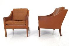 Danish leather armchairs from Lucca Antiques. Leather Armchairs, Antique Armchairs, Orange Leather, Lucca, Midcentury Modern, Danish, Mid Century, Antiques, Furniture