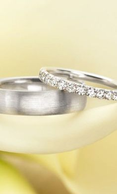 Wedding bands.... I like when they match, but these are nice.