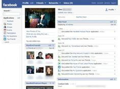 Une page de profil en 2007. C'est au cours de cette année qu'apparaissent les applications tierces et la possibilité d'enrichir ses messages avec d'autres contenus que le simple texte. Facebook se développe et commence son ascension