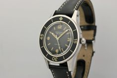 1950 Blancpain Fifty Fathoms Aqualung Watch For Sale - Mens Vintage Time only Blancpain Watch