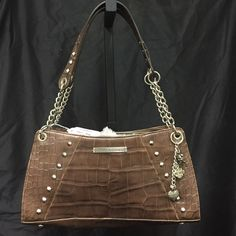 Brown Crocodile Leather Shopper Beautiful brown crocodile 100% genuine leather shopper with chain straps. Harley-Davidson Bags