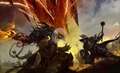 View an image titled 'Charr Battle Concept Art' in our Guild Wars 2 art gallery featuring official character designs, concept art, and promo pictures. Guild Wars 2, The Elder Scrolls, High Fantasy, Fantasy World, Fantasy Battle, Joko, Video Game Art, Video Games, Fantasy Illustration