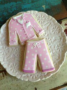 Pink polka dot pj's #cookies