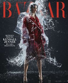 Kendall Jenner | Rain Fashion Shoot | Harper's Bazaar Cover