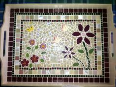 42 best images about skinkborde Mosaic Tray, Mosaic Pots, Mosaic Glass, Mosaic Tiles, Mosaic Tile Designs, Mosaic Patterns, Mosaic Projects, Arts And Crafts Projects, Pattern Design Drawing