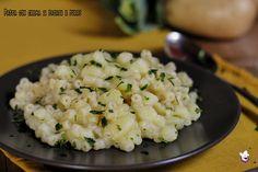Pasta con crema di patate e porro
