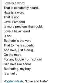 ogden nash poems with images to share - Google Search