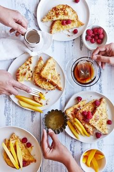 {French toast breakfast.}