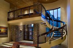 chicken wire interior stair railings | modern stairs railings Choosing the Perfect Stair Railing Design Style