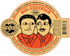 Today we have a returning collaboration beer heading to cans from Mikkeller San Diego, CA . This is Nielsbohrium and it is an imperi. Graphic Design Posters, Graphic Design Typography, Graphic Design Illustration, Badge Design, Label Design, Packaging Design, Marca Personal, Design Reference, Identity Design