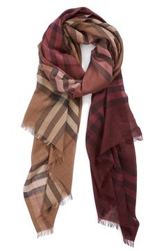 A classic Burberry check scarf.
