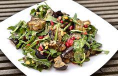 Whole 30 Recipes: Grilled Eggplant Salad Recipe with Lemon and Tahini Dressing