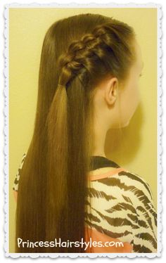 """Cute and easy """"flip knot braid"""""""