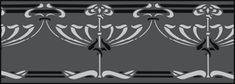 Art Nouveau Border No 79 stencils, stensils and stencles