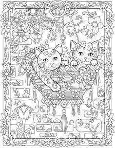 Hanging Basket Creative Kittens Coloring Book By Marjorie Sarnat