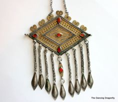 Vintage Antique Tunisian Necklace with by dragonflysublime on Etsy, $89.00