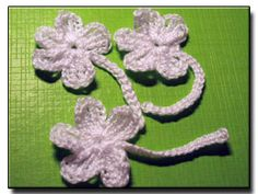 Violet crochet flowers ~ Pattern No. 108
