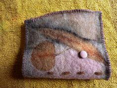 Needle case , Eco dyeing on wool blanket. Ann Stephens