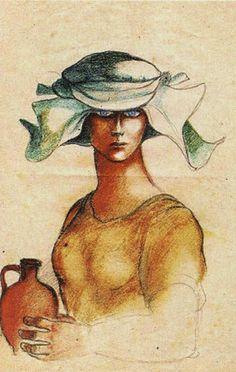 Mulher com Cântaro_ Álvaro Cunhal  da educação e das expressões artísticas: desenho [pintura]...