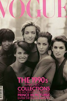 The 1990's first Super Models