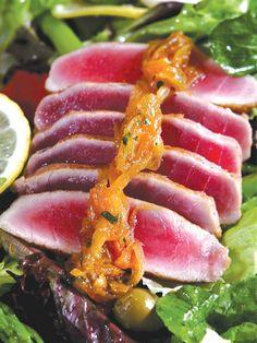 Seared Tuna Salad with Creamy Lemon Basil Dressing by Chef Junjun de Ocampo