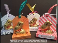 You can make this cute Easter treat holder with pretty paper, double sided tape & a piece of ribbon. EASY! Visit my blog for details and for all your stampin...