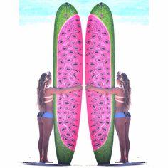 Watermelon surfboard