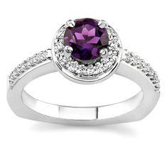 purple ring/my birth stone