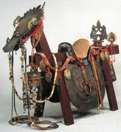 Ancient Japanese horse related equipment.