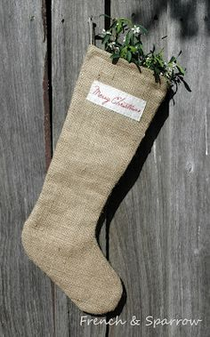 French & Sparrow: Christmas stockings