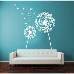 Dandelion Vinyl Wall Art - 17292300 - Overstock - Big Discounts on Wall Murals - Mobile