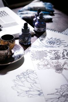 Beautiful pen and ink drawings