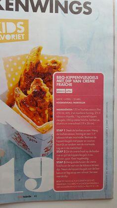 BBQ-kippenvleugels met dip van crème fraîche