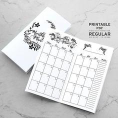 Printable Traveler's Notebook Monthly Insert - Regular TN