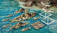Covenant of Antarctica Fleet - Dystopian Wars - http://www.spartangames.co.uk