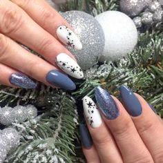 Make an original manicure for Valentine's Day - My Nails Xmas Nails, Holiday Nails, Christmas Nails, Love Nails, Pretty Nails, Fun Nails, Nagel Stamping, Seasonal Nails, Almond Acrylic Nails
