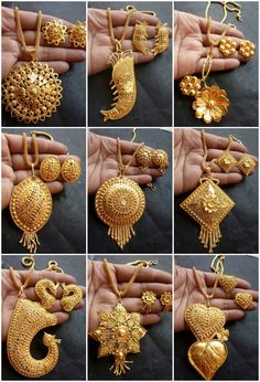 45 Ideas jewerly necklace pendant earrings for 2019 Gold Chain Design, Gold Ring Designs, Gold Earrings Designs, Gold Jewellery Design, Necklace Designs, Gold Mangalsutra Designs, Gold Jewelry Simple, Silver Jewelry, Gold Pendant Necklace