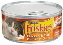 Friskies Cat Food Tender Cuts Senior Chicken & Tuna Dinner in Gravy, 5.5-Ounce Cans (Pack of 24)