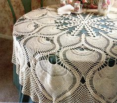 Heirloom Pineapple Tablecloth Crochet Pattern
