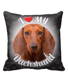 This 'I Love My Australian Shepherd' Brown  Throw Pillow by iLeesh is perfect! #zulilyfinds