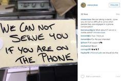 Quán cà phê không phục vụ khi khách dùng điện thoại