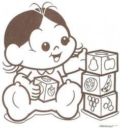 Turma da Mônica Baby para colorir