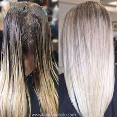 Rooty blonde. Reversed Balayage. #balayage #rootyblonde #rootedblonde #balayagedenver #blondebalayage #balayagedandpainted #balayagedenver #lorealcolor #denverhairstylist #denverart #denvergirl #modernsalon #americansalon #behindthechair...