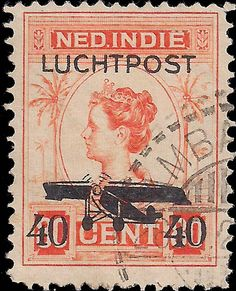 Netherlands Indies 1928. Airmail.40 cents on  80 Cents surcharged