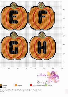 Personalized Pumpkins E-H