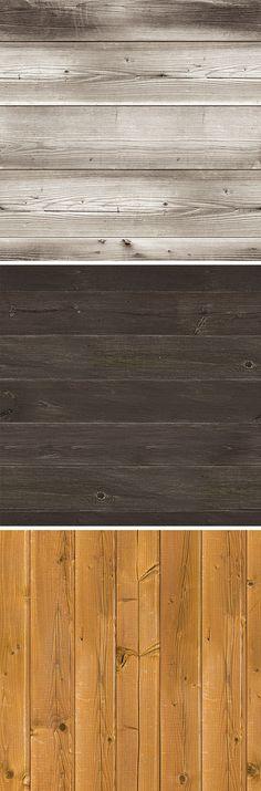 3 Seamless Wood Textures