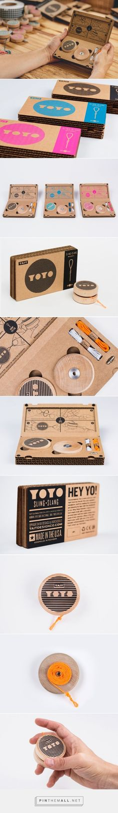 This reminds me of my childhood . Sling-Slang YOYO Designed by TAIT Design Co. Cool Packaging, Brand Packaging, Graphic Design Branding, Label Design, Carton Design, Cardboard Packaging, Communication Design, Bottle Design, Packaging Design Inspiration